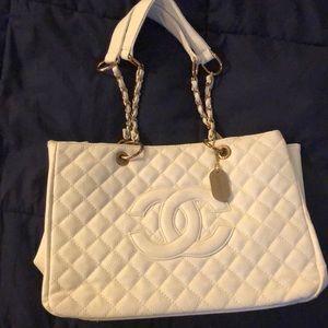 White Chanel  handbag